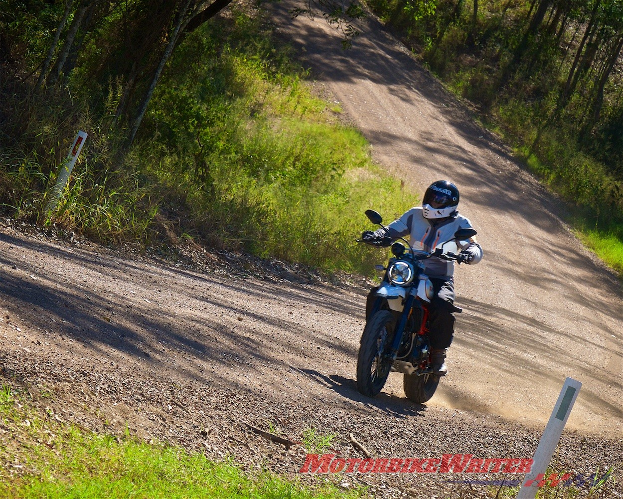 Scrambler Ducati Desert Sled country road