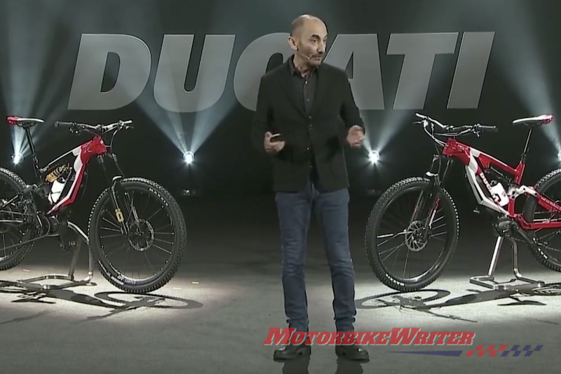 Claudio Domenicali and Ducati e-bikes
