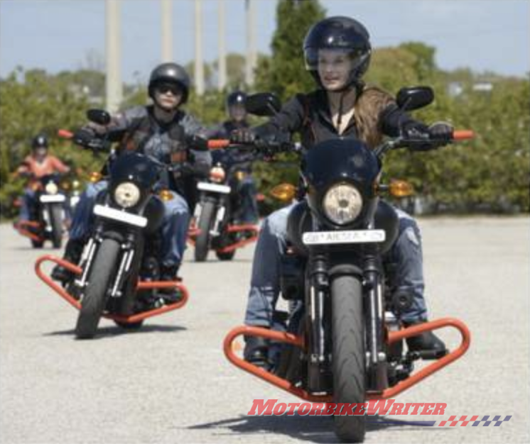 Diverse Harly-Davidson riders women youth