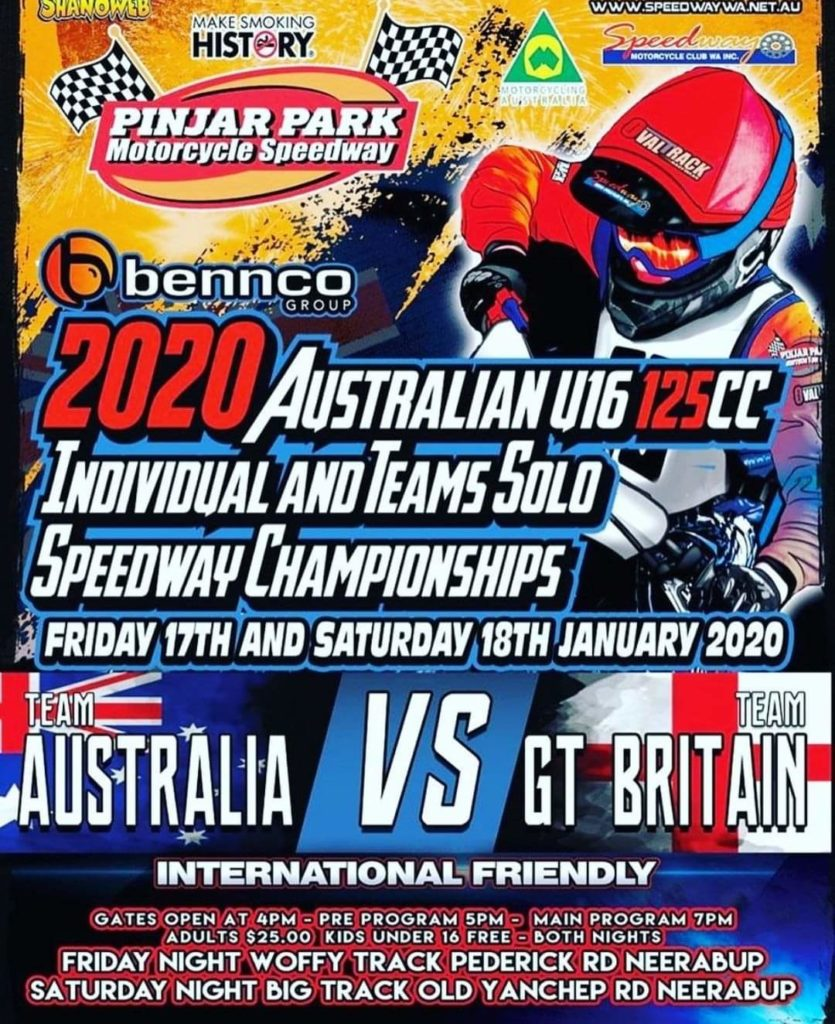 Solo Speedway Championship Australia vs Great Britain