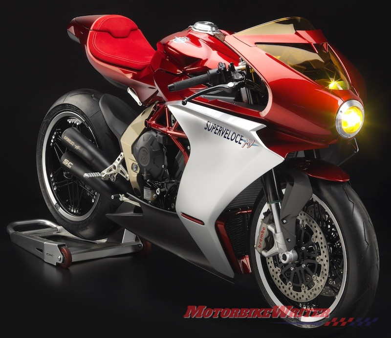 MV Agusta Superveloce 800, Dragster 800 RR America and Brutale 1000 Serie Oro gold mirror online