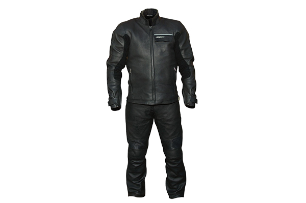 Aerostich Transit waterproof/breathable leather suit.