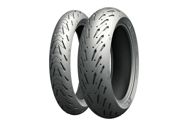 Michelin Road 5 sport-touring tires.