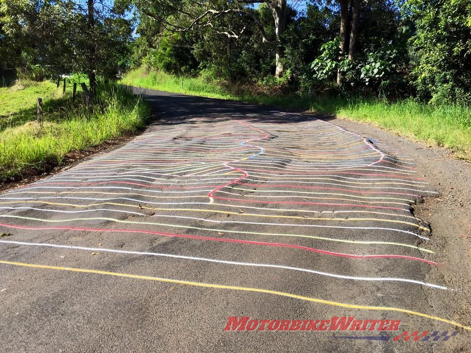 Typical of roads around Nimbin
