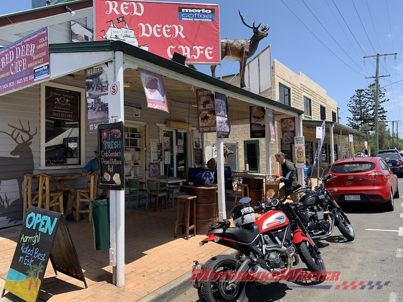 Blacktop Motorcycle Works and Red Deer Cafe