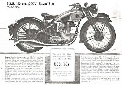 The inside cover of the original BSA factory record book Why you should secretly mark your bike