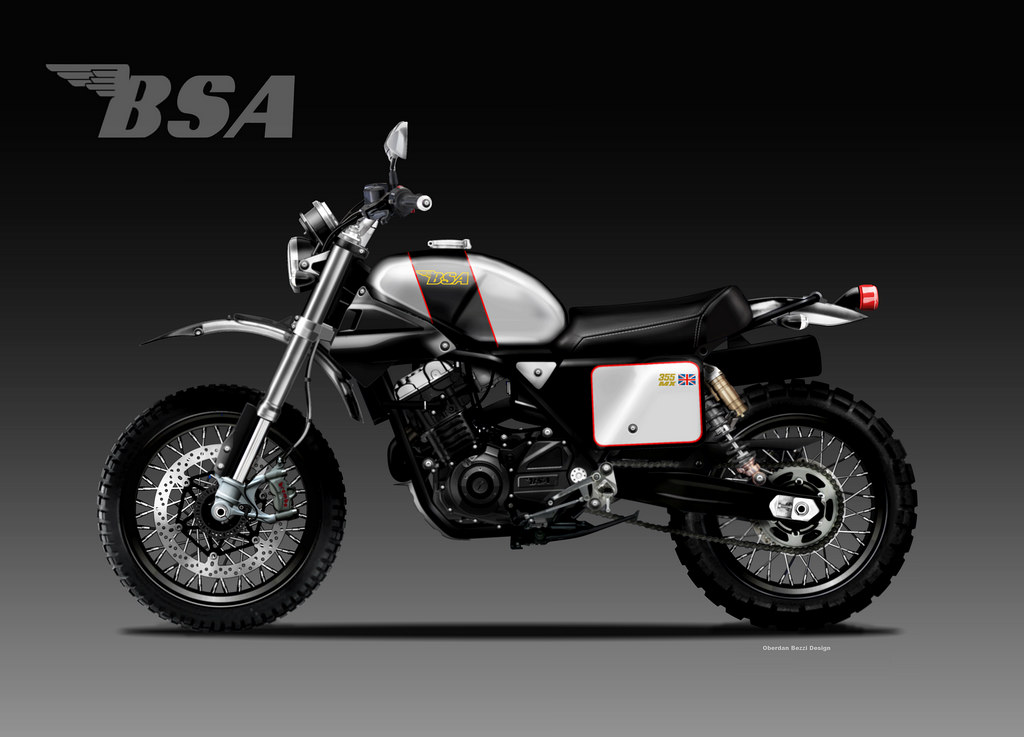 BSA MX 355 sketches revival
