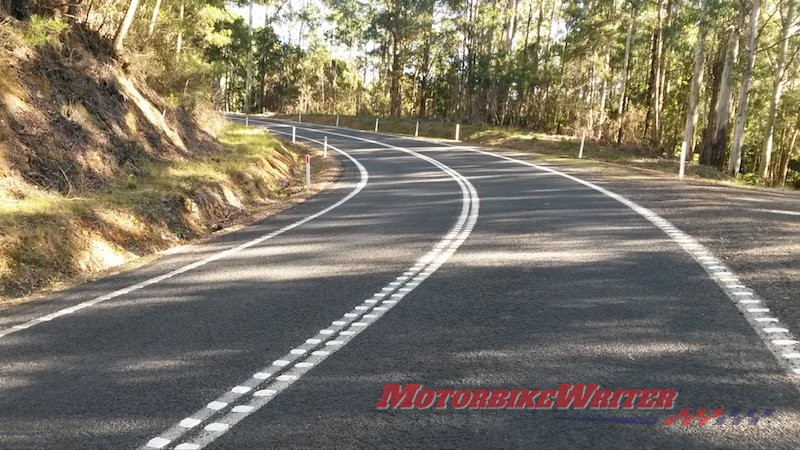 Ripple strips on the Oxley highway bumps