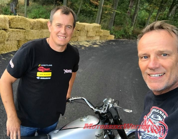 TT legend John McGuinness and Norton boss Stuart Garner funding