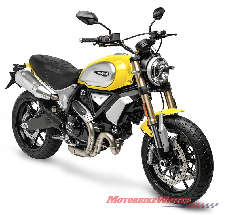 2018 Ducati Scrambler 1100 colours