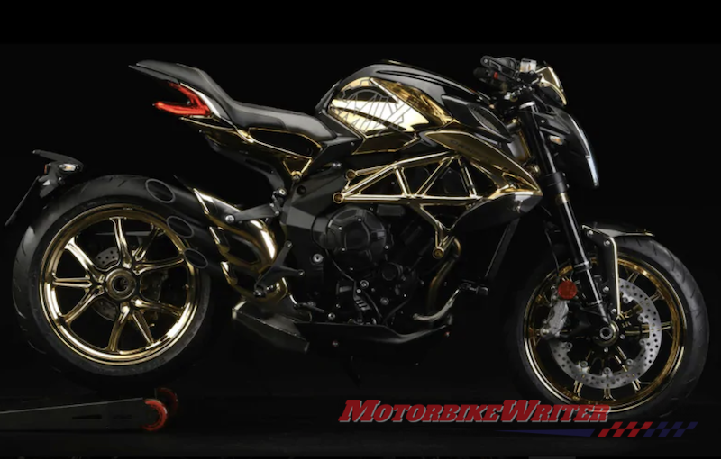 Gold MV Agusta Dragster 800 RC exclusive