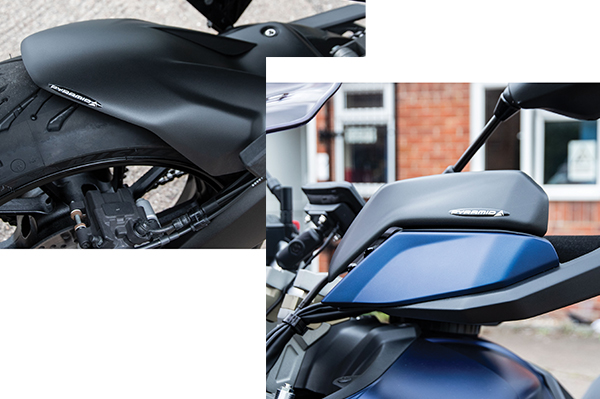 Pyramid Plastics Rear Hugger and Handguard Extensions for the Yamaha Tracer 900/GT.