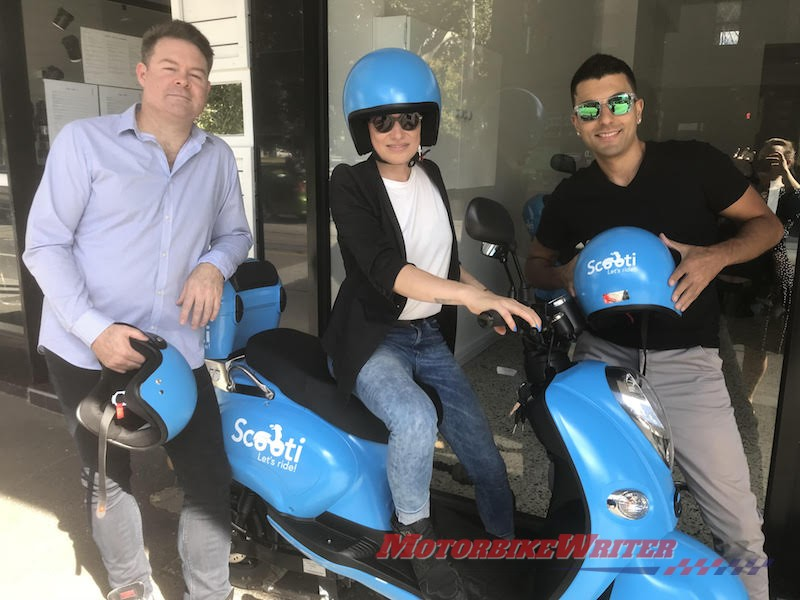 Scooti peer-to-peer scooter taxi service