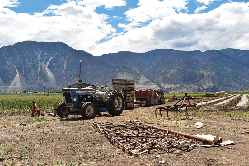 tractor in Similkameen Valley