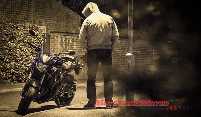 theft lock grinder steal thief motorcycle theft