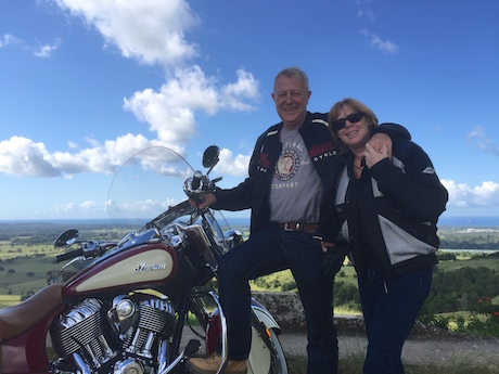 Sharon and Brien with his Indian Chief Vintage buyer's remorse day