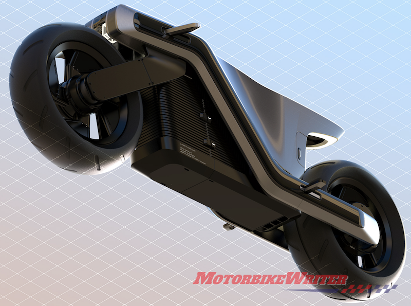 Z electric motorcycle concept drawing