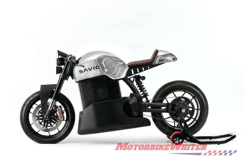 2019 Savic electric motorcycle prototype orders