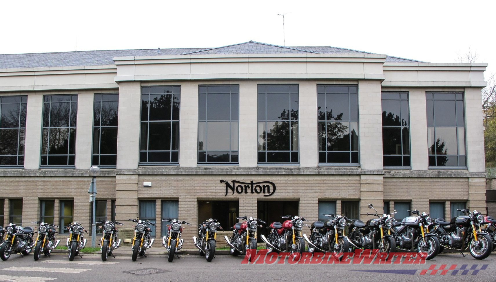 Norton Motorcycles Donington Hall factory crowd