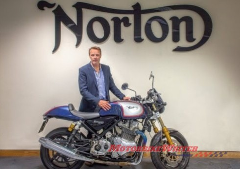 Norton boss Stuart Garner at Donington Castle