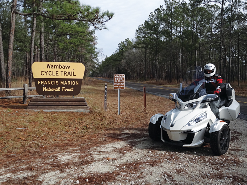 Spyder motorcycle ride South Carolina