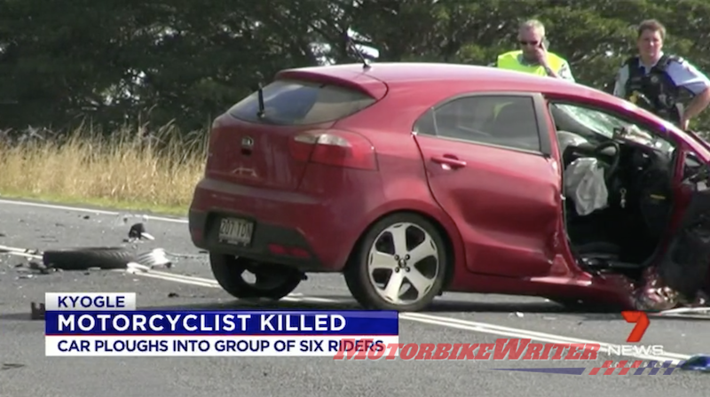 Car ploughed into riders