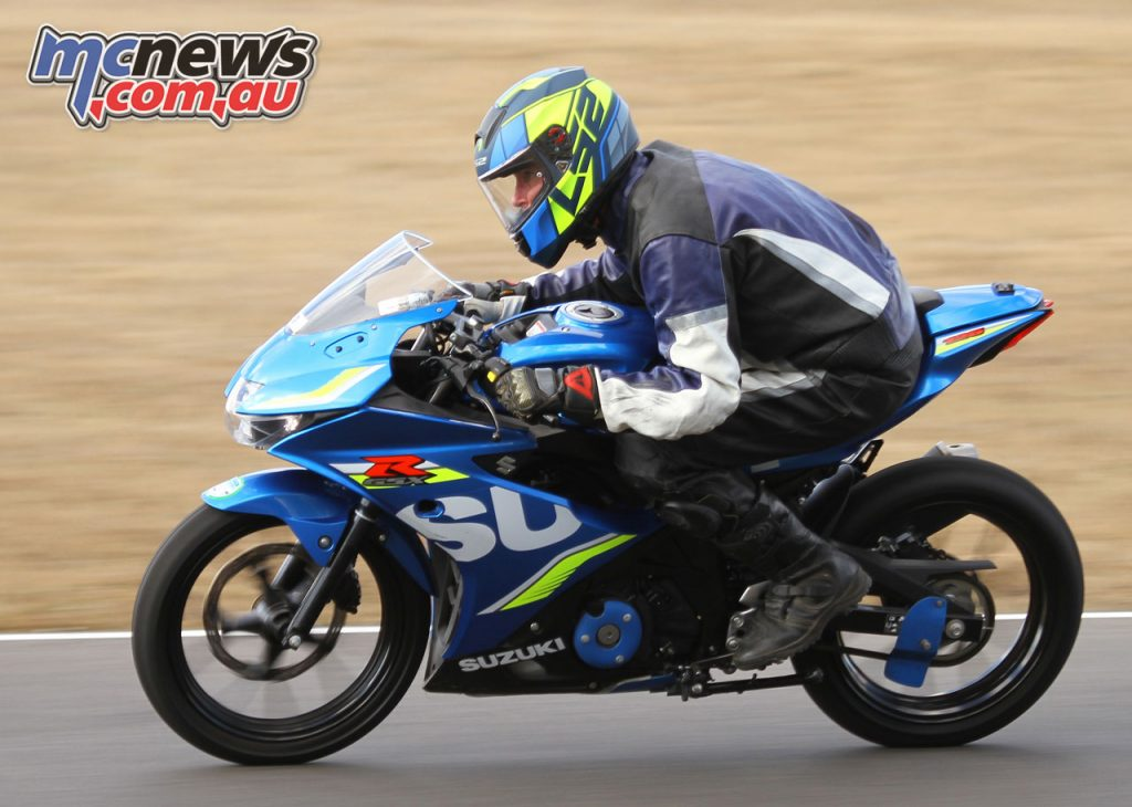 Suzuki GSX R Track Days Not scrunching down means a real penalty on the straights