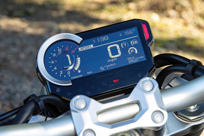 Honda CB1000R display dash