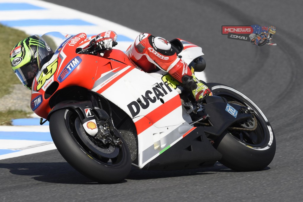 "Cal Crutchlow (Ducati Team #35) – 11° (1'46.221) - ""I'm not pleased with the result today but I am pleased with the speed. I thought we could have maybe been in the front five in that session but I got held up in my fast lap. I could have been a lot closer than what I was so I'm happy with this and it means we can work well for tomorrow. I had some problems in the session and didn't get out in the first ten minutes due to a problem with the brake. Now I'm looking to rest because I've not been feeling well at all today due to a bit of flu, so maybe tomorrow I can have a better performance."""