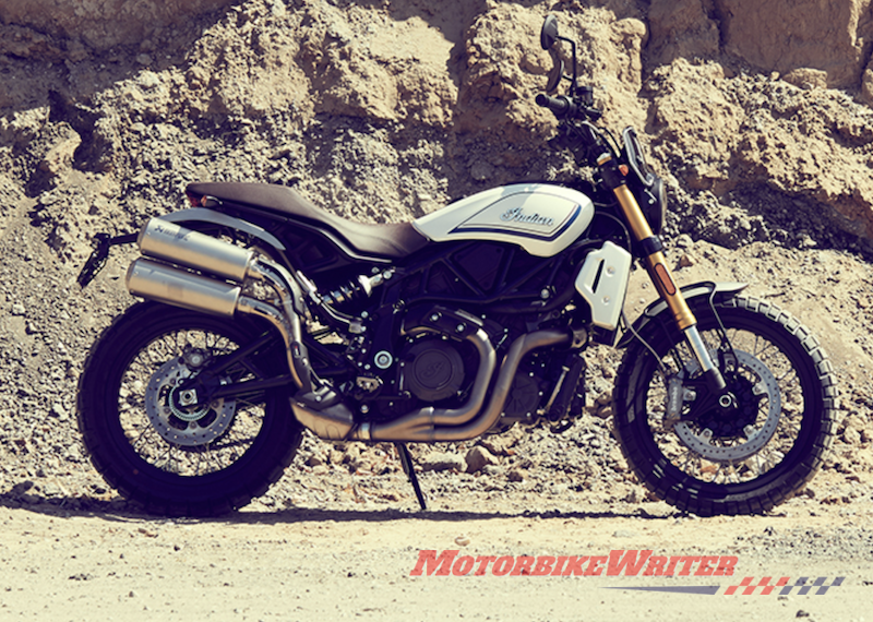 Indian FTR 1200 adds accessories