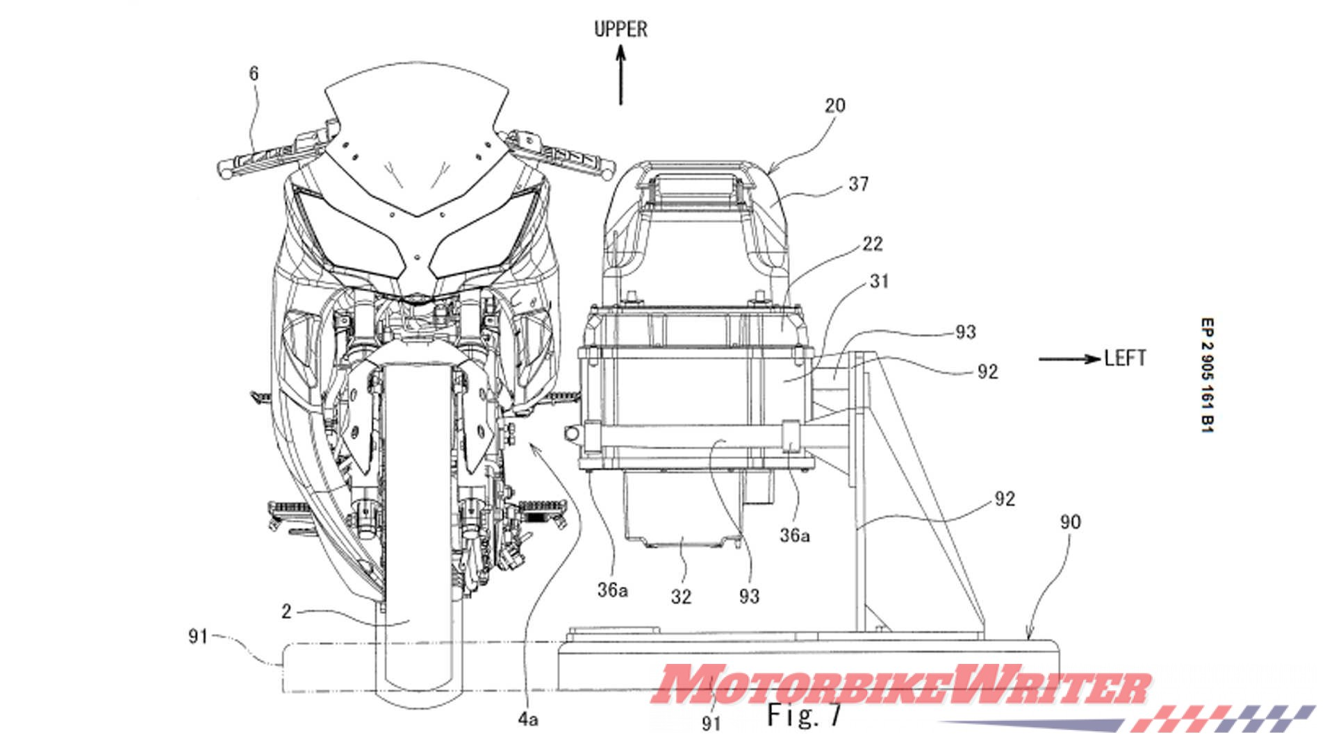 Kawasaki electric Ninja patent battery swap