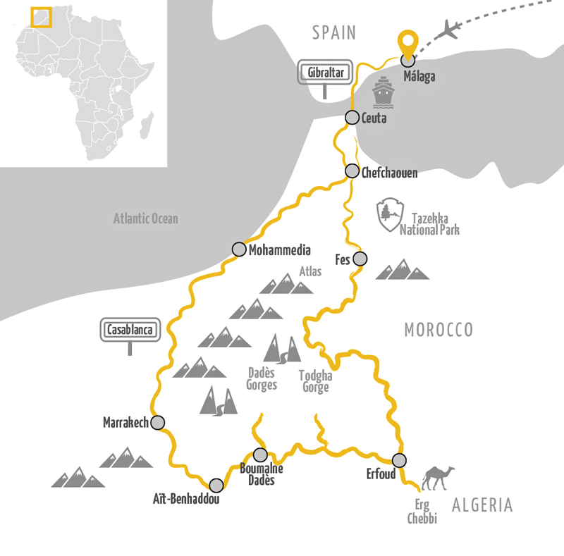 Edelweiss motorcycle tour Morocco