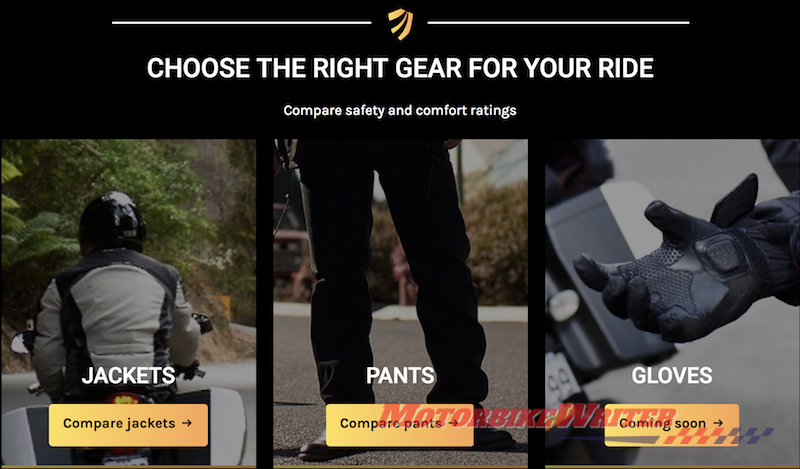 Motocap Motorcycle clothing rating system launched target canstar choose textile pants covert secretive