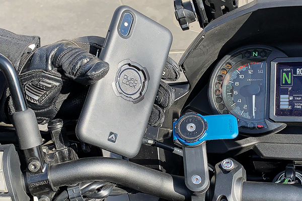 Quad Lock phone case and mount motorcycle iPhone