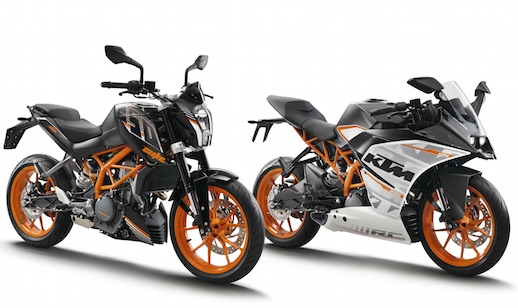 KTM 250 Duke and RC 250