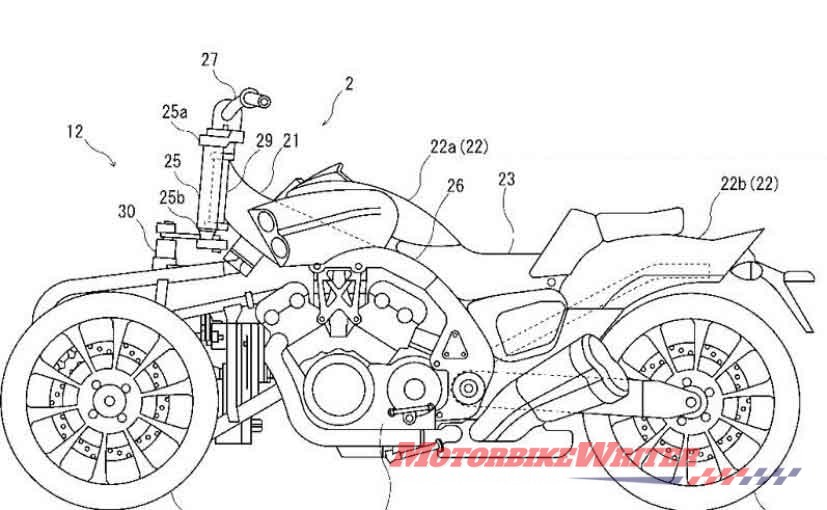 Yamaha Niken VMax leaning three-wheeler coming AKO