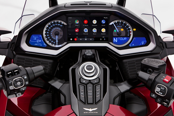 Honda Gold Wing with Android Auto integration
