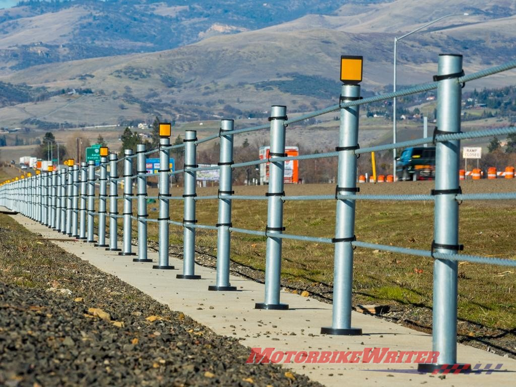 New wire rope barriers WRB