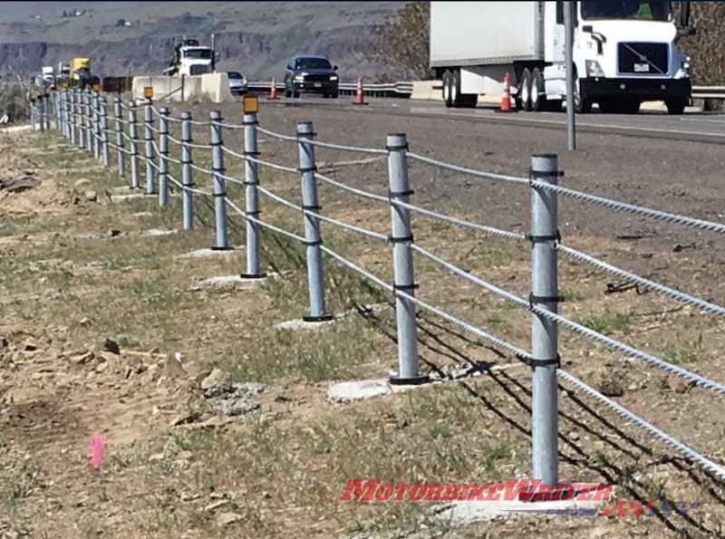New Safe Direction wire rope barriers