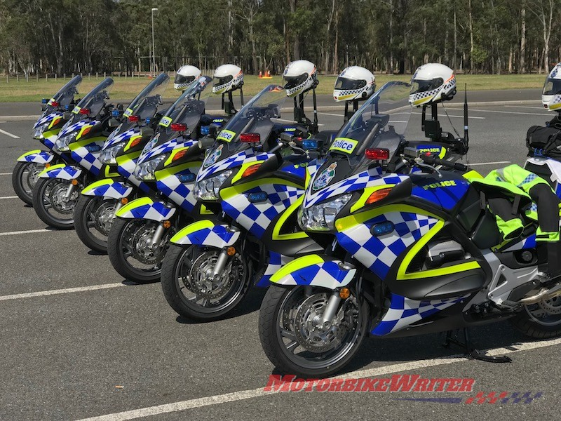 DayGlo Queensland Police motorcycle rider