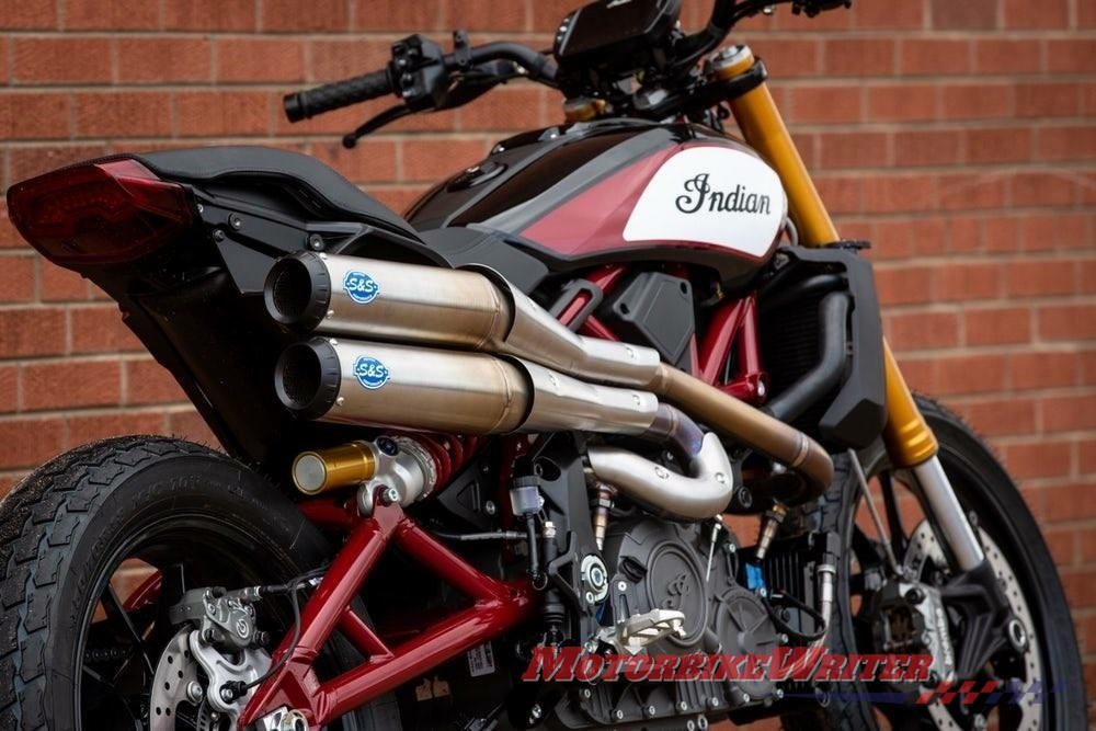 S&S Cycle prototype exhaust for Indian FTR 1200