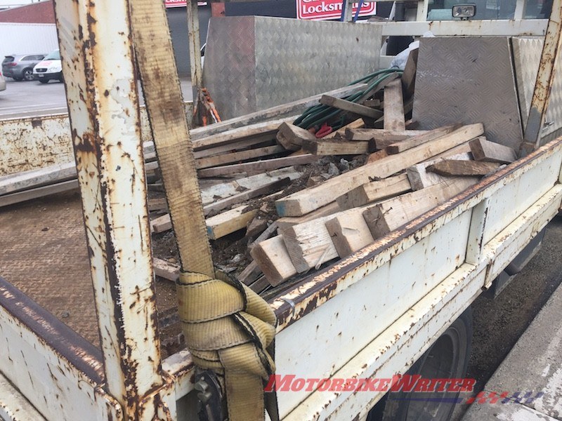 Unsecured load in a ute look