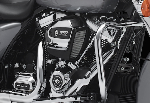 2017 Harley-Davidson Touring models get the 107 Milwaukee Eight engine Road King air-cooled