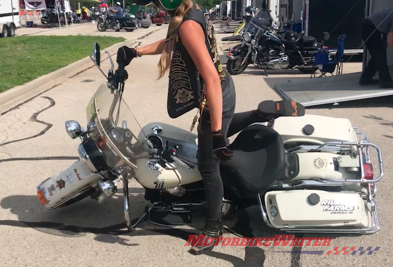 How to pick up a heavy motorcycle Kaitlin Riley