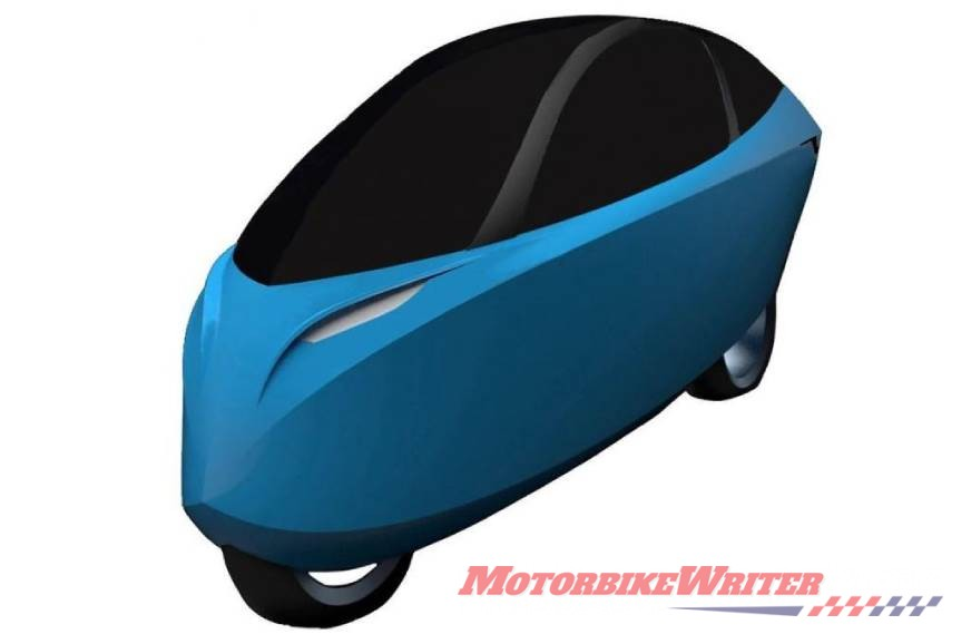 Lightning enclosed electric motorcycle
