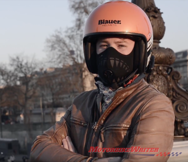 R-PUR anti-pollution and anti-pollen motorcyclist face mask