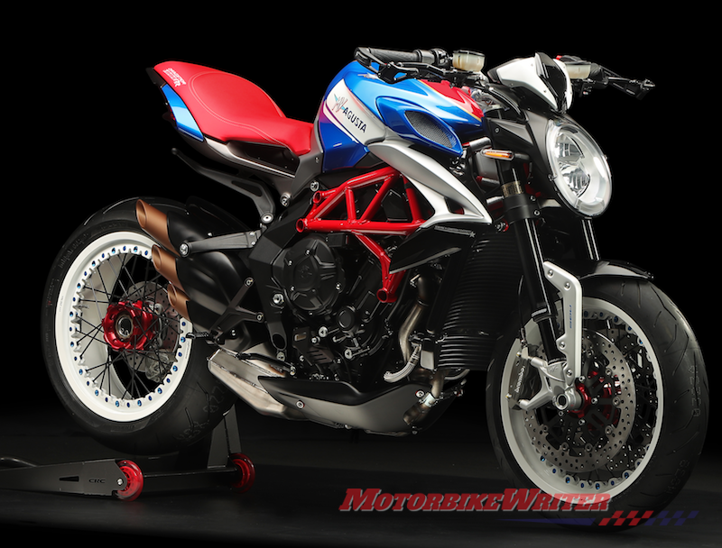 MV Agusta Superveloce 800, Dragster 800 RR America and Brutale 1000 Serie Oro