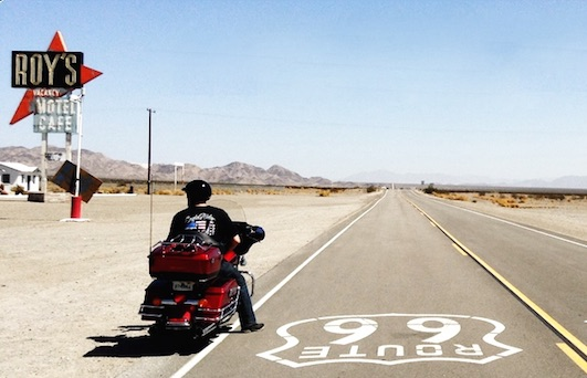 Route 66 Tours test ride a harley