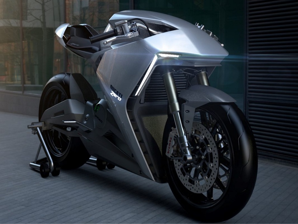 Ducati Zero electric concept 2020 electric bike race
