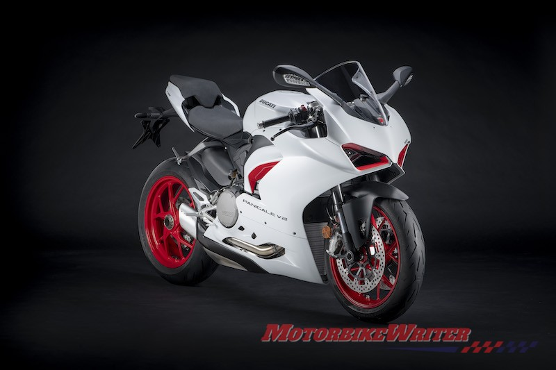 Ducati Panigale V2 in white